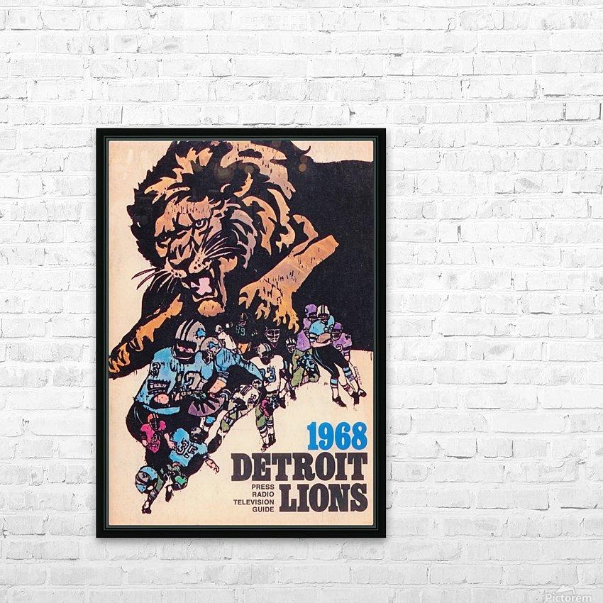 1968 Detroit Lions NFL Press Guide Reproduction Art_Detroit Michigan Gift Ideas HD Sublimation Metal print with Decorating Float Frame (BOX)