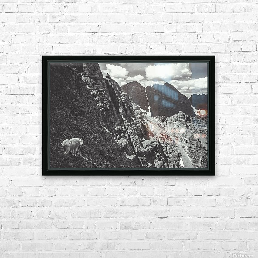 Pyramid Peak Mountain Goat HD Sublimation Metal print with Decorating Float Frame (BOX)