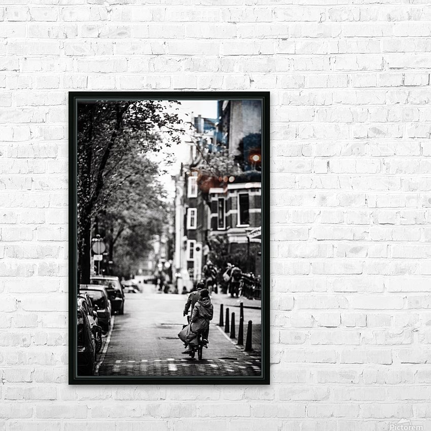 Raining in Amsterdam HD Sublimation Metal print with Decorating Float Frame (BOX)