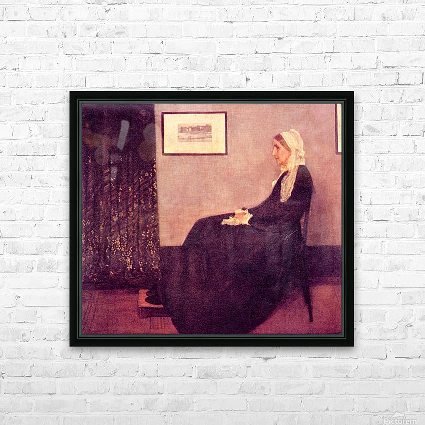 Whistlers Mother by James Abbot McNeill Whistler HD Sublimation Metal print with Decorating Float Frame (BOX)