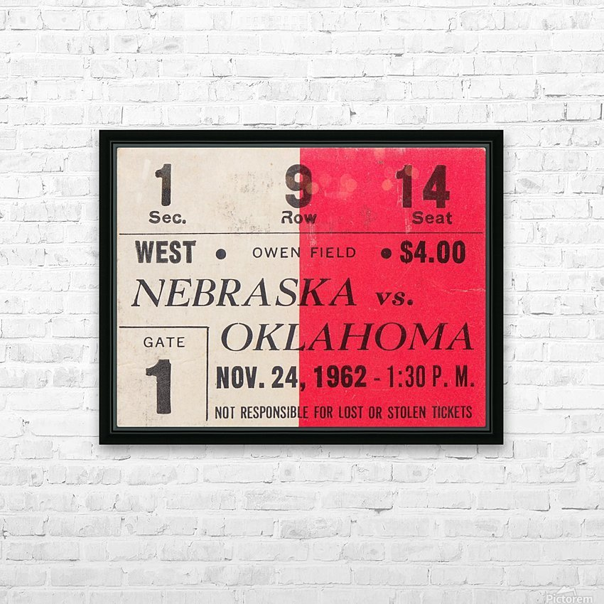 Oklahoma Sooners Owen Field Metal Sign_Ticket Stub Signs HD Sublimation Metal print with Decorating Float Frame (BOX)