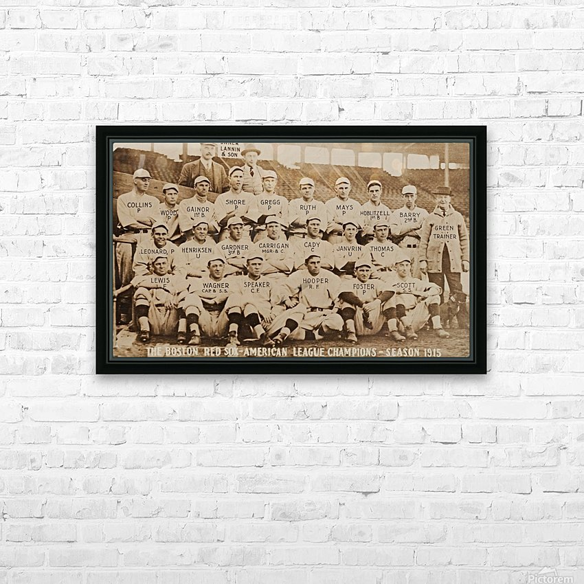 1915 Boston Red Sox Team Photo HD Sublimation Metal print with Decorating Float Frame (BOX)