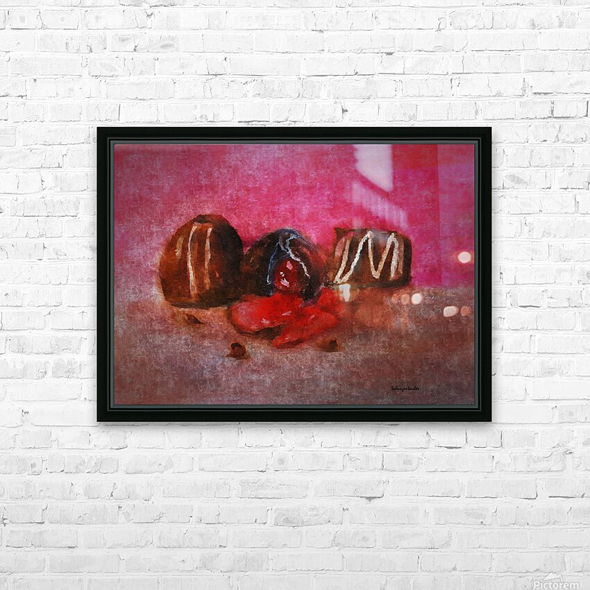 Chocolate Candy HD Sublimation Metal print with Decorating Float Frame (BOX)