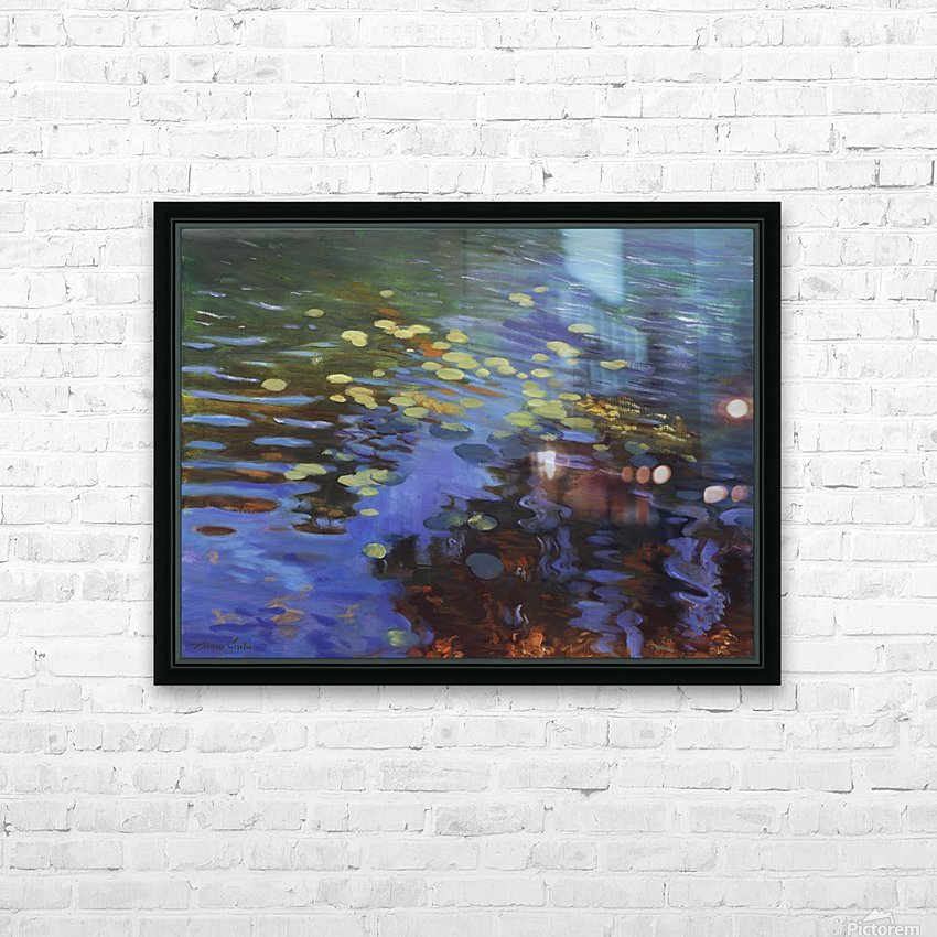 Waterlilies HD Sublimation Metal print with Decorating Float Frame (BOX)