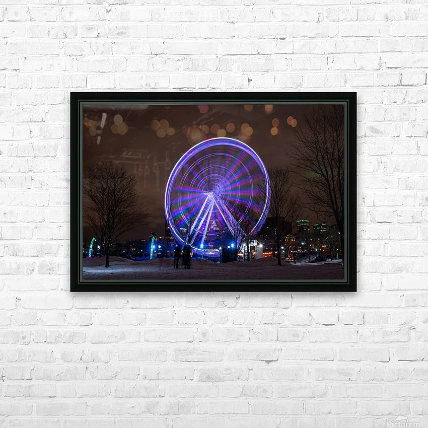 The ferris wheel HD Sublimation Metal print with Decorating Float Frame (BOX)