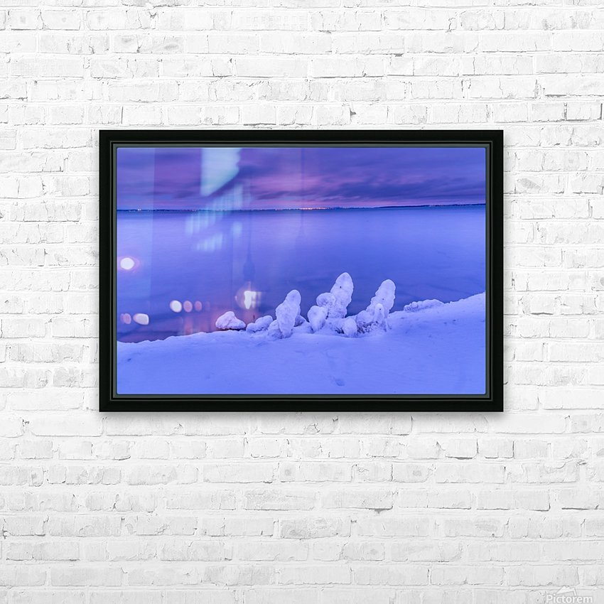 Icy blues HD Sublimation Metal print with Decorating Float Frame (BOX)