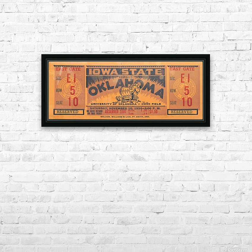 1934 Iowa State vs. Oklahoma HD Sublimation Metal print with Decorating Float Frame (BOX)