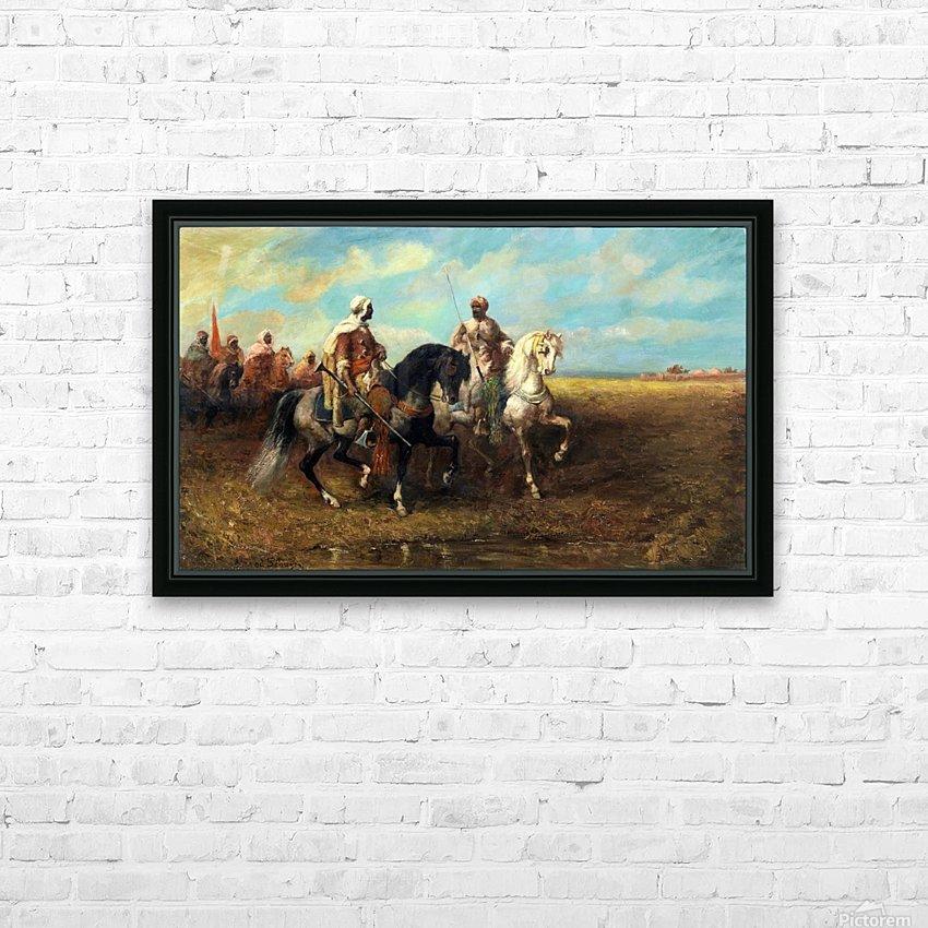 Arab Horsemen HD Sublimation Metal print with Decorating Float Frame (BOX)