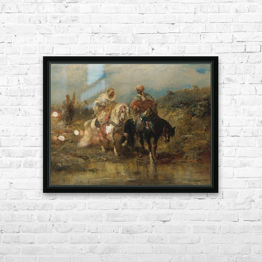 Arab horsemen raiding HD Sublimation Metal print with Decorating Float Frame (BOX)