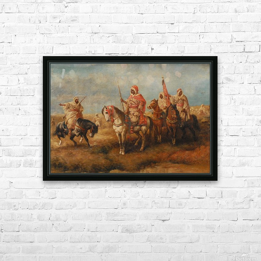 Bedouins on Horseback HD Sublimation Metal print with Decorating Float Frame (BOX)
