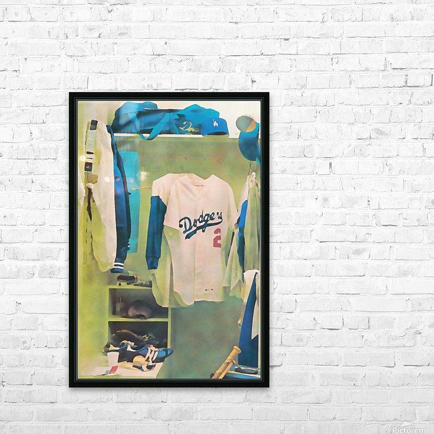 Vintage LA Dodgers Baseball Locker Room Art_Retro Baseball Art Print Los Angeles Dodgers Jersey_Art (1) HD Sublimation Metal print with Decorating Float Frame (BOX)