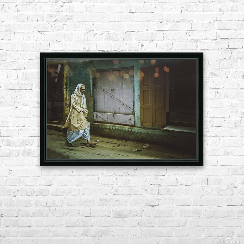 Varanasi Window - The Spy HD Sublimation Metal print with Decorating Float Frame (BOX)
