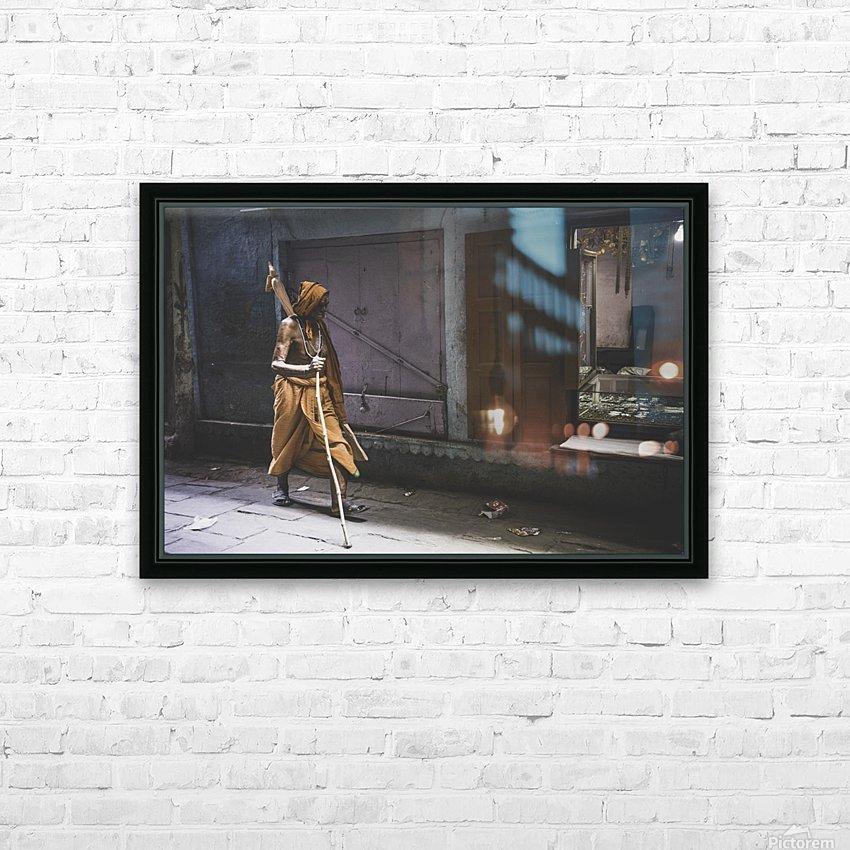 Varanasi Window - Walker HD Sublimation Metal print with Decorating Float Frame (BOX)