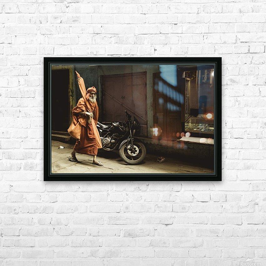 Varanasi Window - Pilgrim HD Sublimation Metal print with Decorating Float Frame (BOX)
