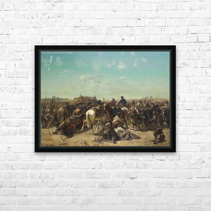 An Ottoman encampment HD Sublimation Metal print with Decorating Float Frame (BOX)