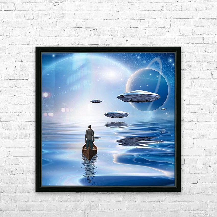 Exosolar Planets HD Sublimation Metal print with Decorating Float Frame (BOX)