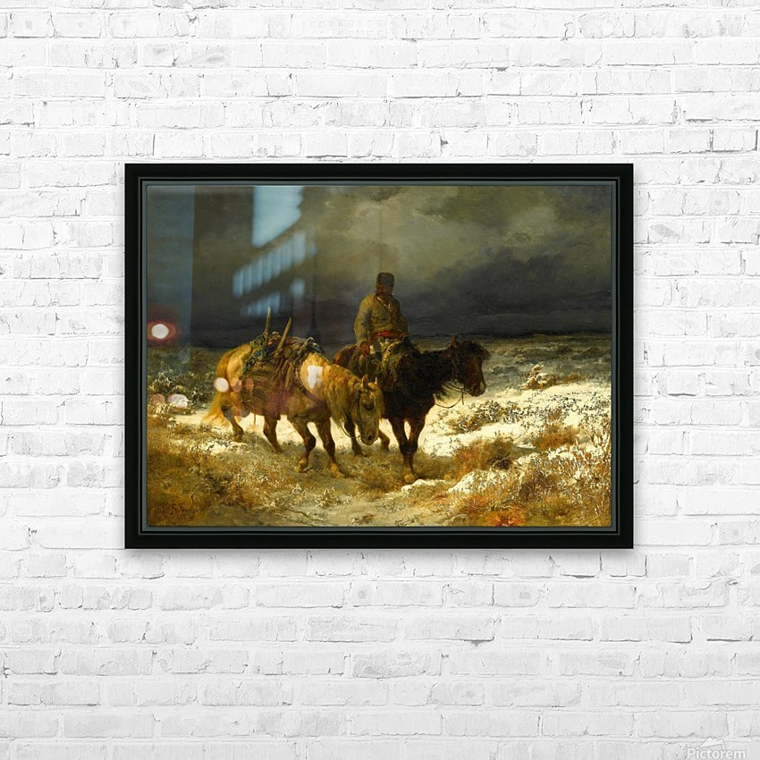 Horseman HD Sublimation Metal print with Decorating Float Frame (BOX)