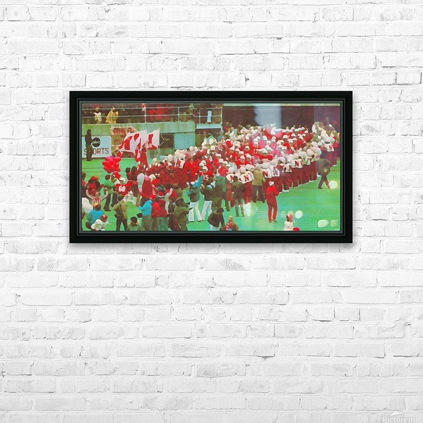 nebraska football art vintage college poster HD Sublimation Metal print with Decorating Float Frame (BOX)