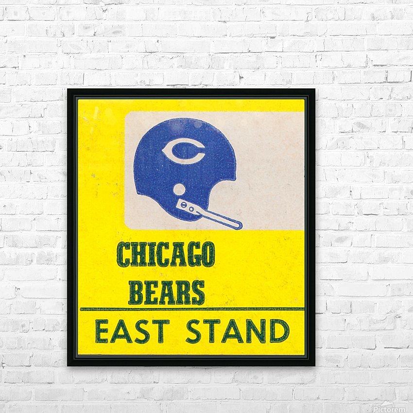 vintage chicago bears art poster metal canvas HD Sublimation Metal print with Decorating Float Frame (BOX)