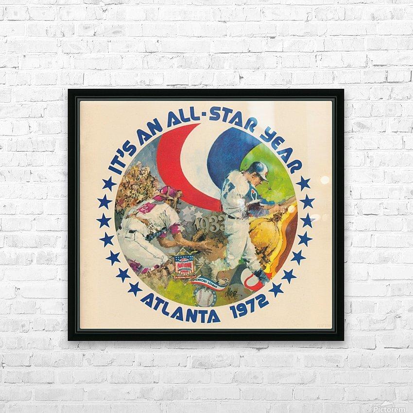 its an all star year atlanta 1972 baseball art HD Sublimation Metal print with Decorating Float Frame (BOX)