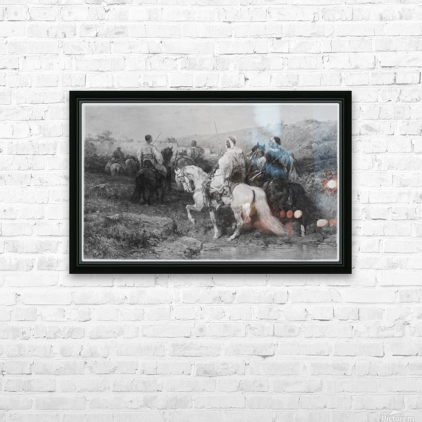 Arabs on the March HD Sublimation Metal print with Decorating Float Frame (BOX)