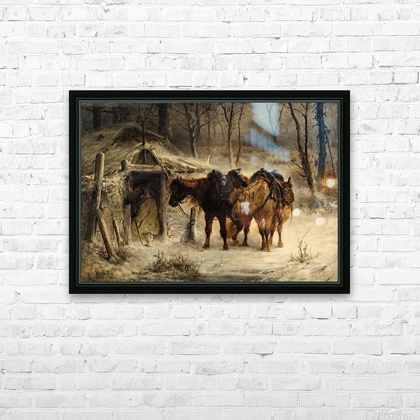 Resting horses HD Sublimation Metal print with Decorating Float Frame (BOX)