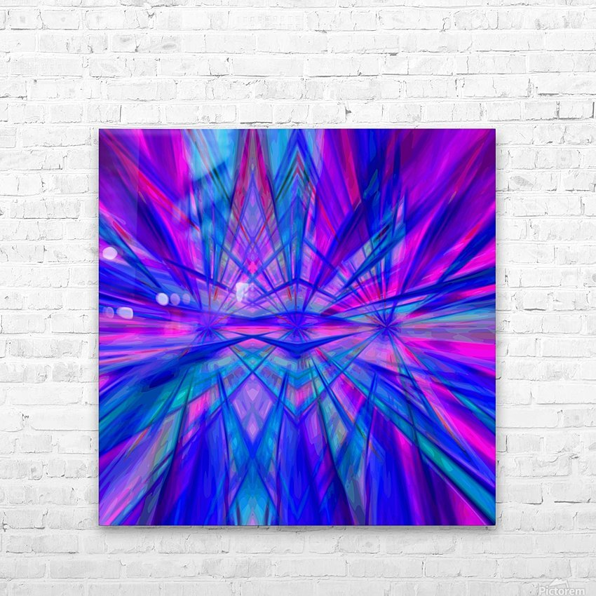 High Vitality - pink blue purple line abstract wall art HD Sublimation Metal print with Decorating Float Frame (BOX)