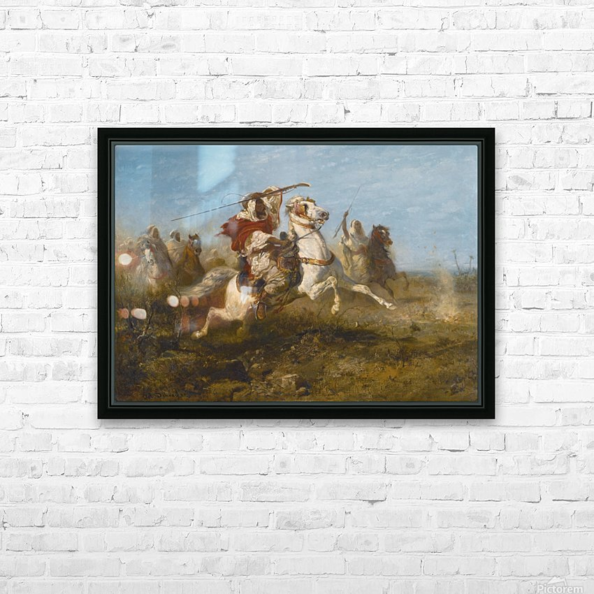Arab raid HD Sublimation Metal print with Decorating Float Frame (BOX)