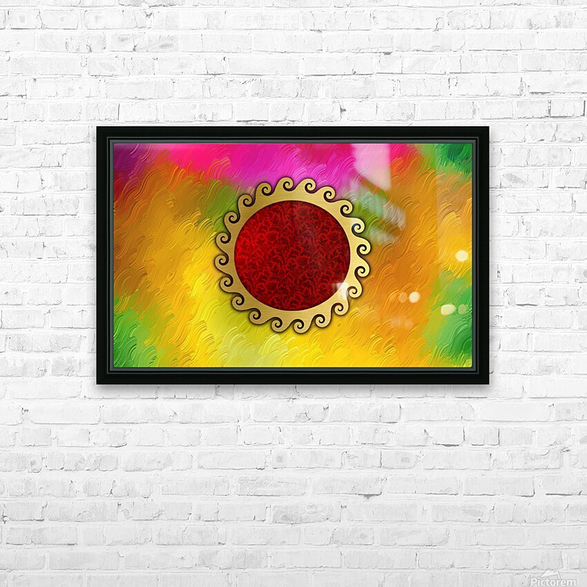 Signs of power and protection amulets sun HD Sublimation Metal print with Decorating Float Frame (BOX)