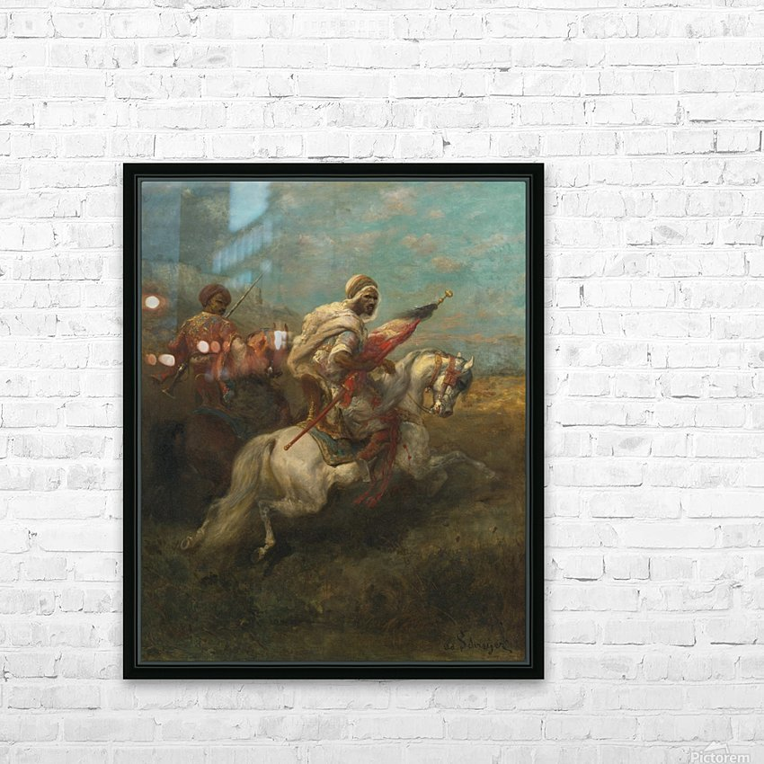 Arabs riding horses HD Sublimation Metal print with Decorating Float Frame (BOX)