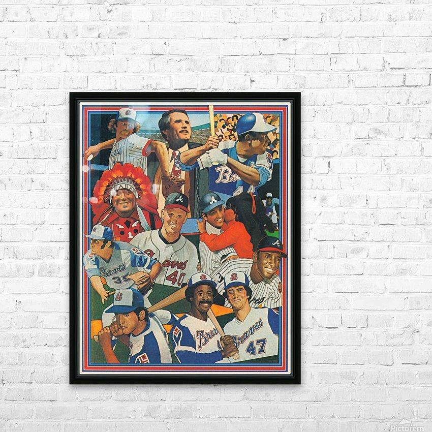 atlanta braves poster vintage baseball retro sports art reproduction HD Sublimation Metal print with Decorating Float Frame (BOX)