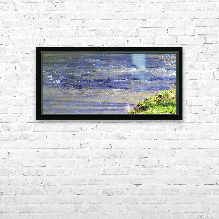 Calming waters HD Sublimation Metal print with Decorating Float Frame (BOX)