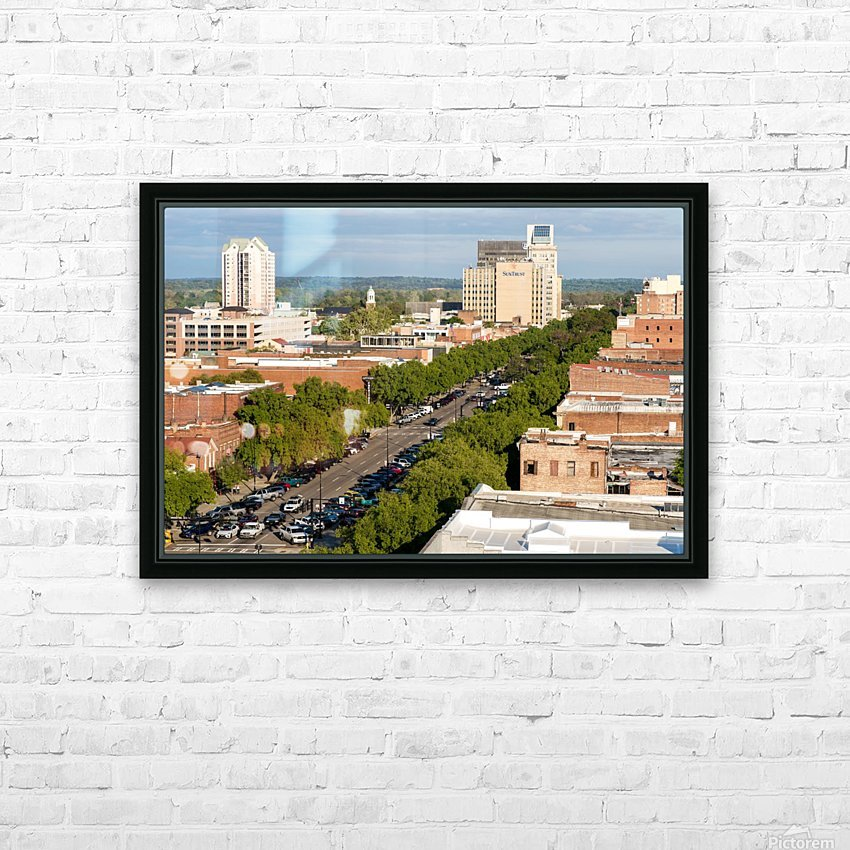 Broad Street Downtown Augusta GA Aerial View 8259 HD Sublimation Metal print with Decorating Float Frame (BOX)