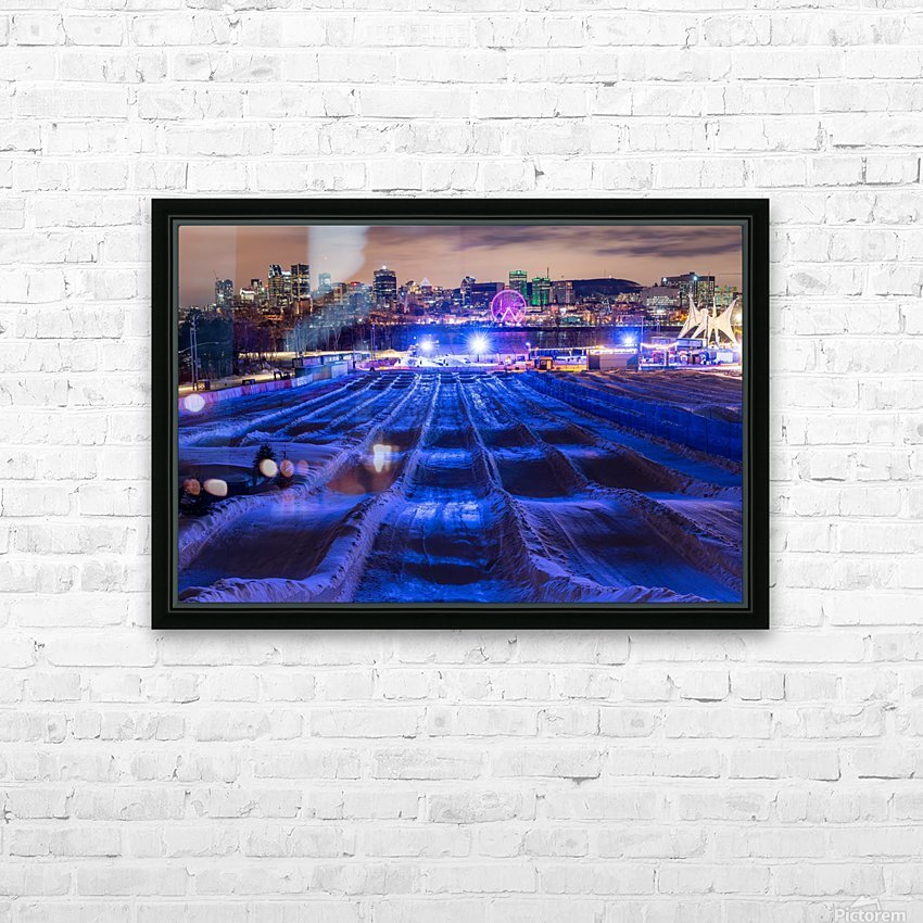 High angle in the slide HD Sublimation Metal print with Decorating Float Frame (BOX)