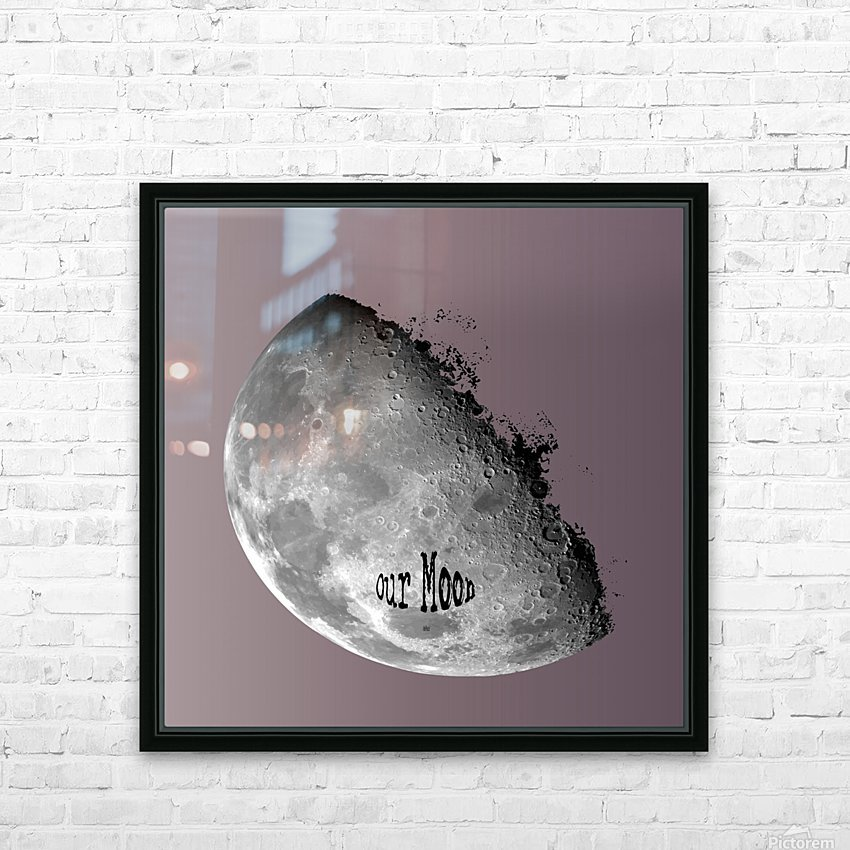 Our Moon HD Sublimation Metal print with Decorating Float Frame (BOX)
