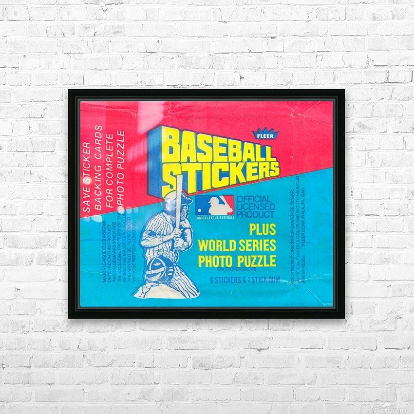 vintage fleer mlb baseball sticker package art design reproduction art HD Sublimation Metal print with Decorating Float Frame (BOX)