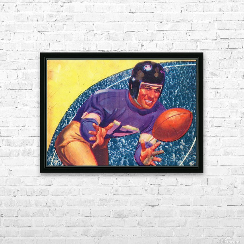 vintage football posters retro sports art print HD Sublimation Metal print with Decorating Float Frame (BOX)