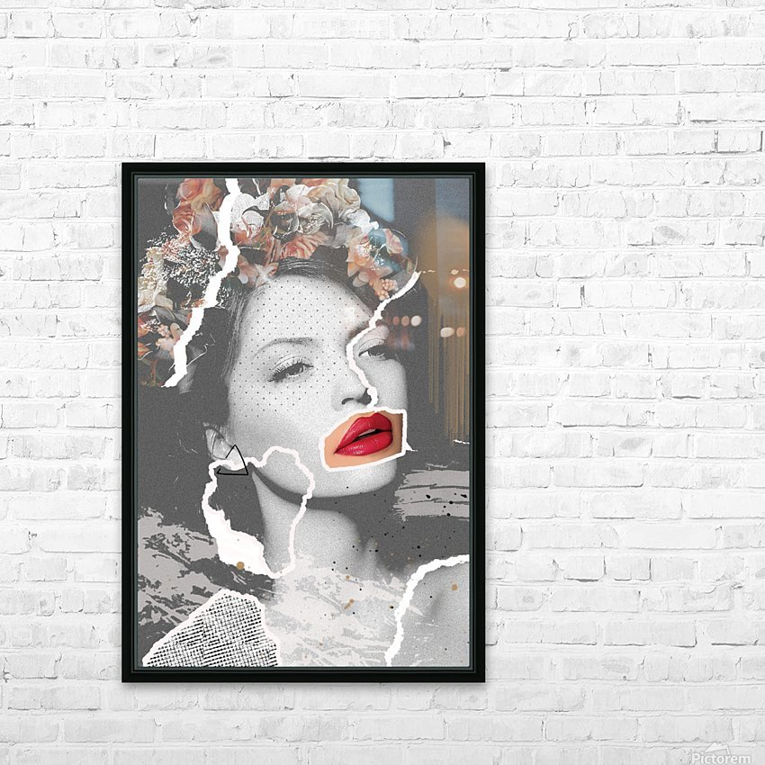Rosie HD Sublimation Metal print with Decorating Float Frame (BOX)