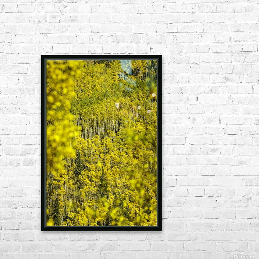 Full Stack of Yellows HD Sublimation Metal print with Decorating Float Frame (BOX)