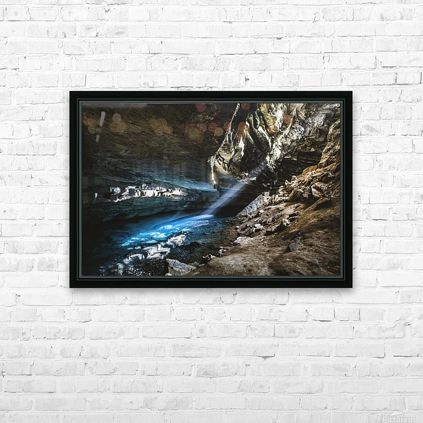 The Blue Cave HD Sublimation Metal print with Decorating Float Frame (BOX)