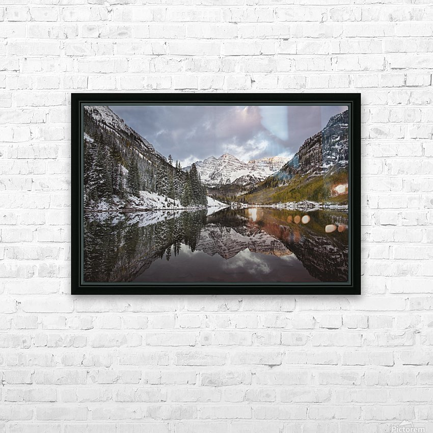 Maroon Bells full color HD Sublimation Metal print with Decorating Float Frame (BOX)