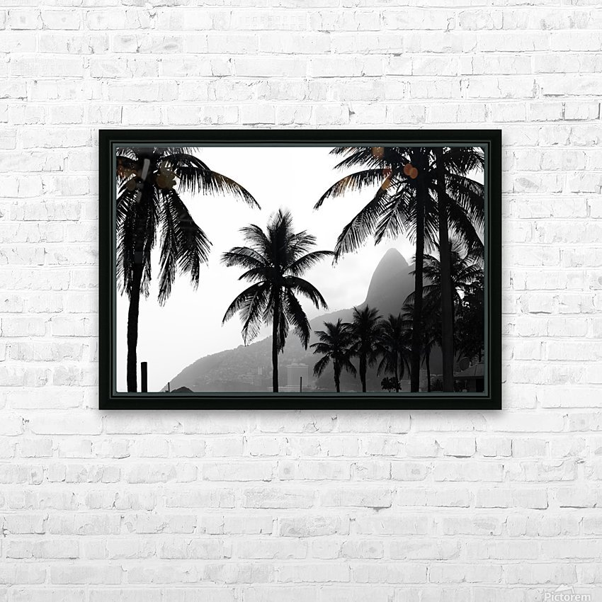 Ipanema B&W HD Sublimation Metal print with Decorating Float Frame (BOX)