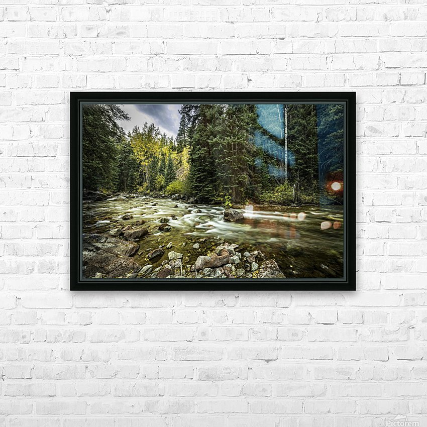 Rocky Mountain Forest HD Sublimation Metal print with Decorating Float Frame (BOX)