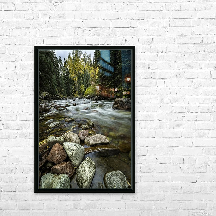Rocky Mountain Stream II HD Sublimation Metal print with Decorating Float Frame (BOX)