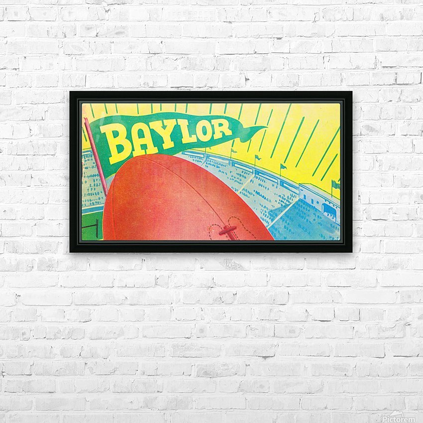 Baylor Bears Football Pennant Poster (1935) HD Sublimation Metal print with Decorating Float Frame (BOX)