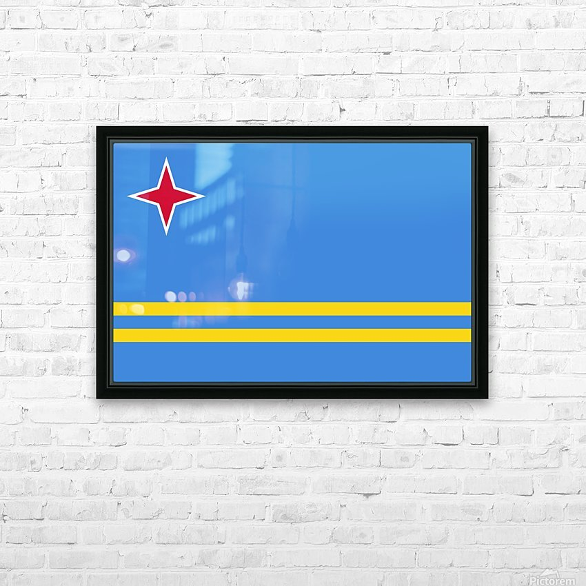 Aruba Flag HD Sublimation Metal print with Decorating Float Frame (BOX)