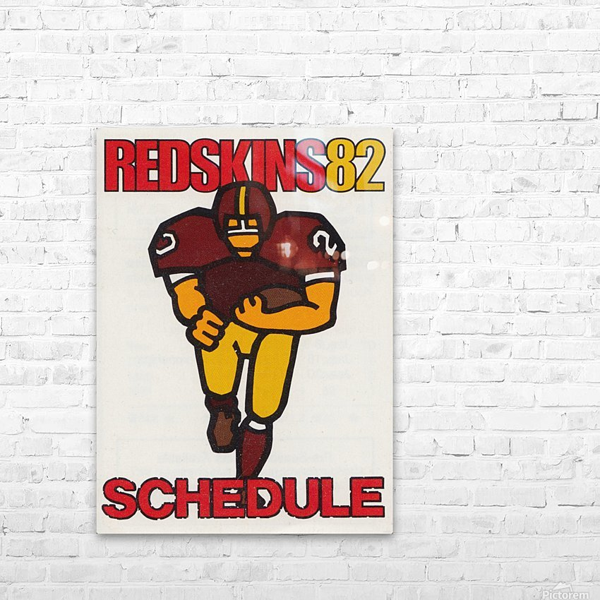 1982 Washington Redskins NFL Football Schedule Art Poster Row One Brand HD Sublimation Metal print with Decorating Float Frame (BOX)