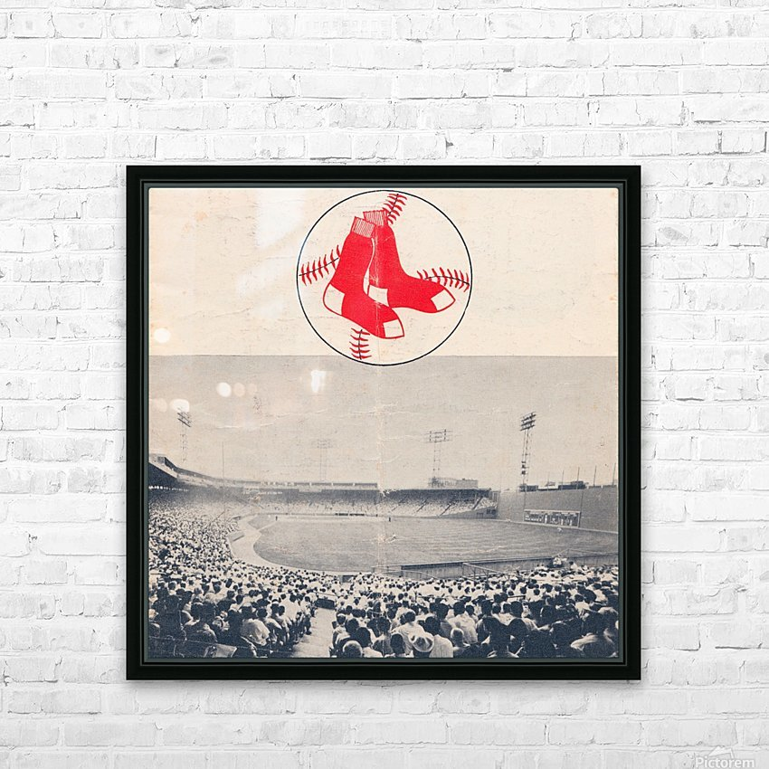 Vintage Fenway Park Poster_Boston Red Sox Photo Reproduction HD Sublimation Metal print with Decorating Float Frame (BOX)