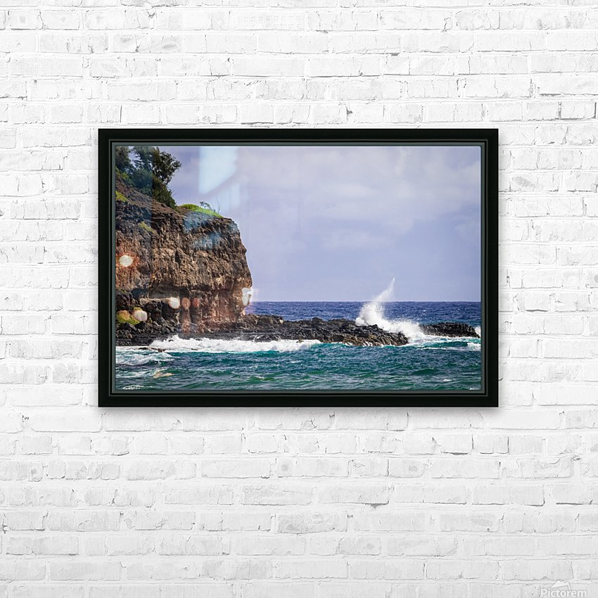Kahili Beach   Kauai Hawaii 1035 HD Sublimation Metal print with Decorating Float Frame (BOX)