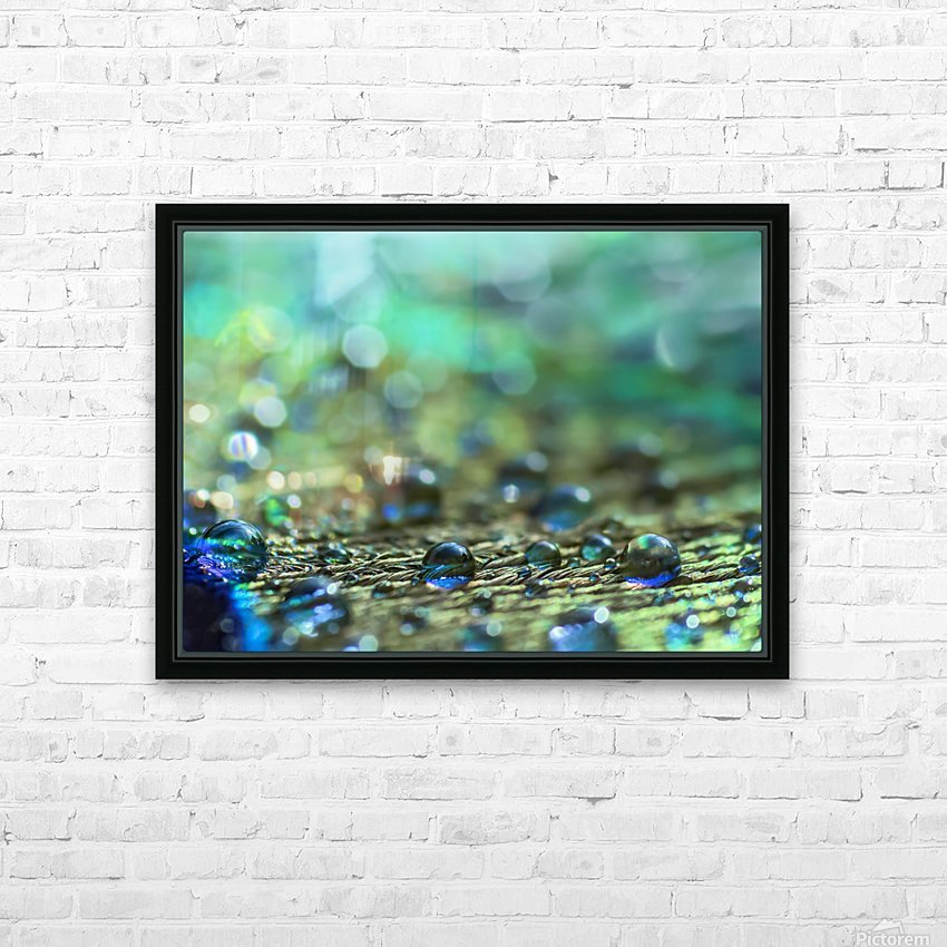 Shimmering Peacock Feather HD Sublimation Metal print with Decorating Float Frame (BOX)